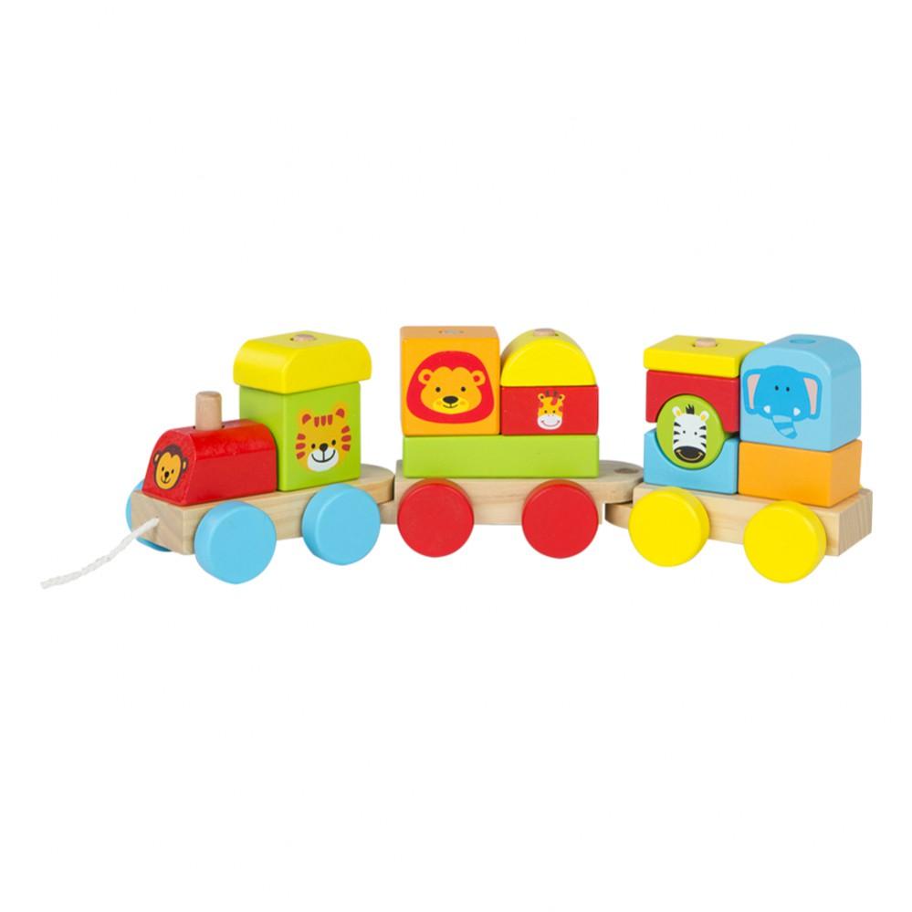 Tren de madera 16 piezas Animales de Play & Learn