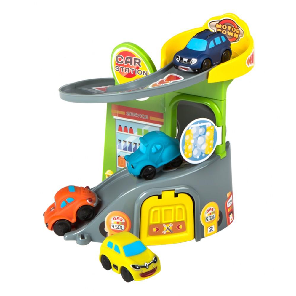 Garaje de juguete con 4 coches motor town - Garaje de coches ...