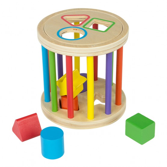Rodari de madera con 6 figuras geométricas Play & Learn