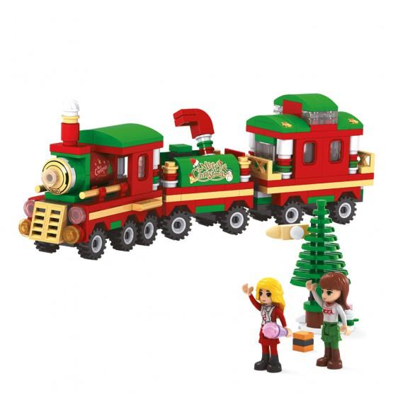 Juego de construcción Tren de Navidad AUSINI