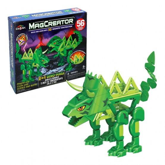 Magcreator Dinosaurios Kit 2 en 1