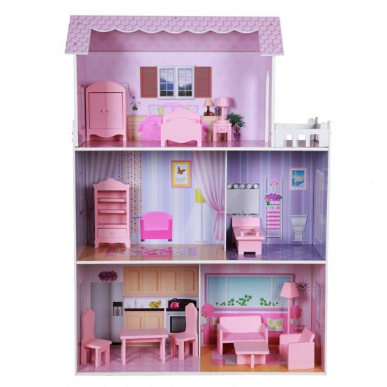 Casa de muñecas de madera