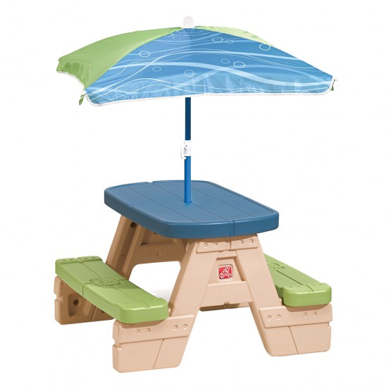 Mesa picnic con sombrilla Sit&Play Step2