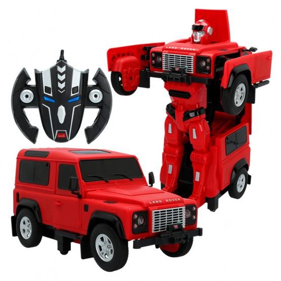 Land Rover Defender 2 en 1 rojo transformable en robot RASTAR