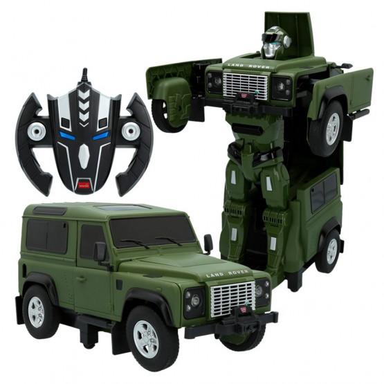 Land Rover Defender 2 en 1 verde transformable en robot RASTAR